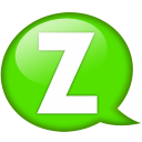 Speech Balloon Green Z Emoticon