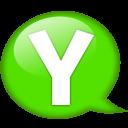 Speech Balloon Green Y Emoticon
