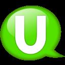 Speech Balloon Green U Emoticon