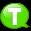 Speech Balloon Green T Emoticon