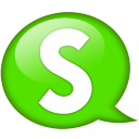 Speech Balloon Green S Emoticon