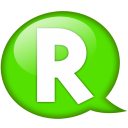 Speech Balloon Green R Emoticon