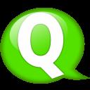 Speech Balloon Green Q Emoticon