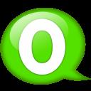 Speech Balloon Green O Emoticon
