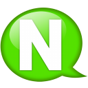 Speech Balloon Green N Emoticon