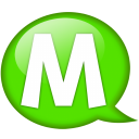 Speech Balloon Green M Emoticon