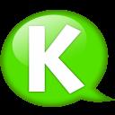 Speech Balloon Green K Emoticon