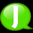 Speech Balloon Green J Emoticon