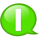Speech Balloon Green I Emoticon
