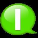 Speech Balloon Green I Emoticon
