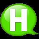 Speech Balloon Green H Emoticon