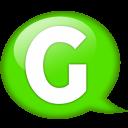 Speech Balloon Green G Emoticon