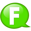 Speech Balloon Green F Emoticon