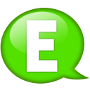 Speech Balloon Green E Emoticon