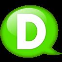 Speech Balloon Green D Emoticon