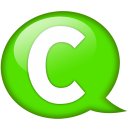 Speech Balloon Green C Emoticon