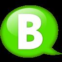 Speech Balloon Green B Emoticon