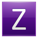Letter Z Violet Emoticon