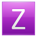 Letter Z Pink Emoticon