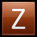 Letter Z Orange Emoticon
