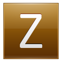 Letter Z Gold Emoticon