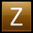 Letter Z Gold Emoticon