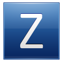 Letter Z Blue Emoticon