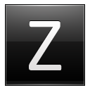 Letter Z Black Emoticon