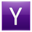 Letter Y Violet Emoticon