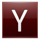 Letter Y Red Emoticon