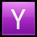 Letter Y Pink Emoticon
