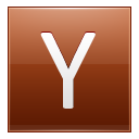 Letter Y Orange Emoticon