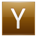 Letter Y Gold Emoticon