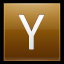 Letter Y Gold Emoticon