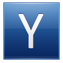 Letter Y Blue Emoticon