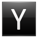 Letter Y Black Emoticon