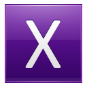 Letter X Violet Emoticon