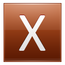 Letter X Orange Emoticon