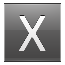 Letter X Grey Emoticon