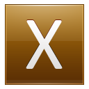 Letter X Gold Emoticon