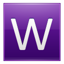 Letter W Violet Emoticon