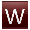 Letter W Red Emoticon