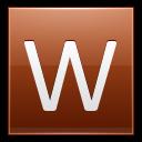 Letter W Orange Emoticon