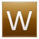 Letter W Gold Emoticon