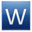 Letter W Blue Emoticon