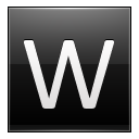 Letter W Black Emoticon