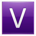 Letter V Violet Emoticon