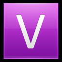 Letter V Pink Emoticon