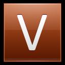 Letter V Orange Emoticon