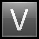 Letter V Grey Emoticon